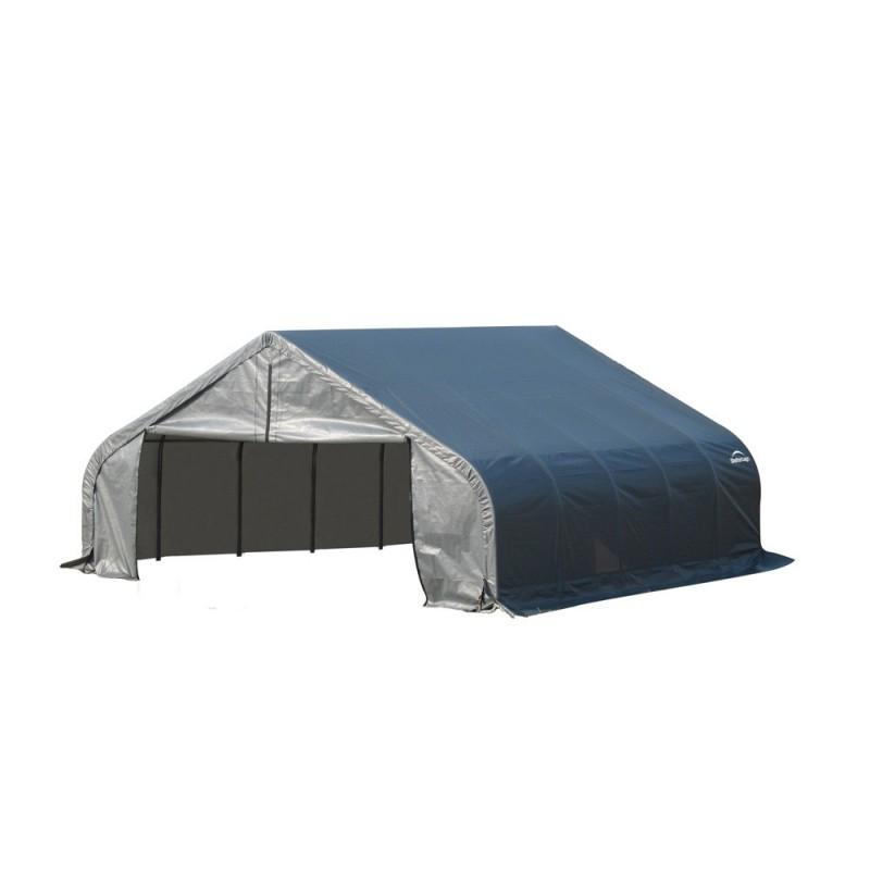 Shelter Logic 18x20x11 Peak Style Instant Garage Kit - Grey (80016)