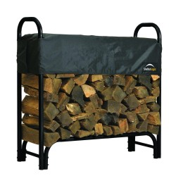 Shelter Logic 4ft Heavy Duty Firewood Rack w/ Cover (90401)