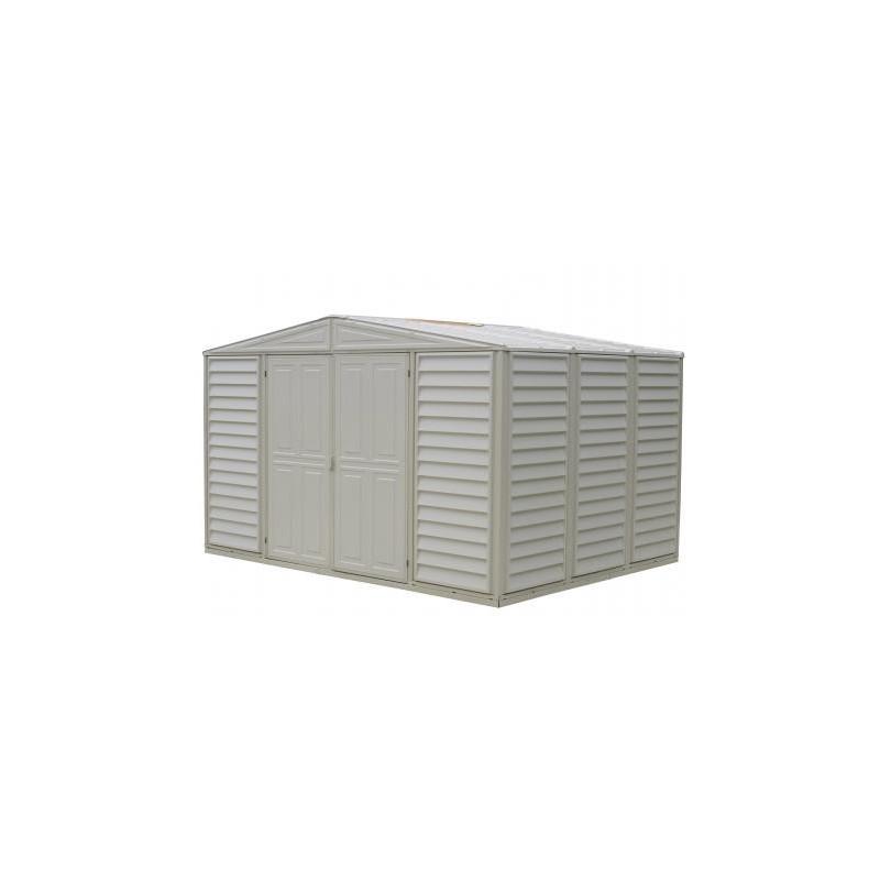 Duramax 10 39 x 8 39 woodbridge vinyl storage shed 00281 for Vinyl storage buildings