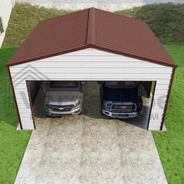 Versatube 20x20x10 Frontier Steel Garage Kit (FBM2202010516)