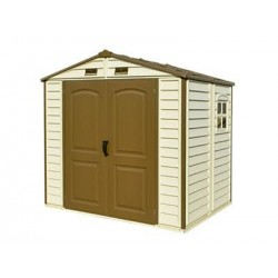 DuraMax 8x5.5 StoreAll Vinyl Shed with Foundation Kit (30115)