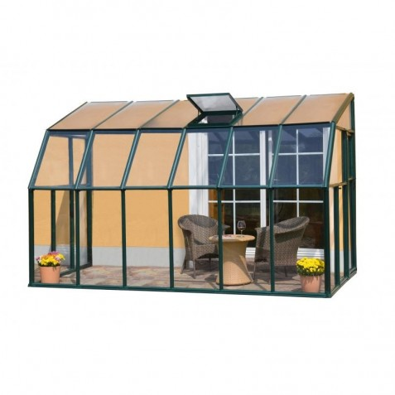 Rion 6x12 Sun Lounge 2-Sunroom Greenhouse Kit - Green (HG7412)