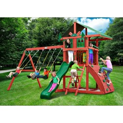 Gorilla Highcrest Cedar Wood Swing Set Kit - Redwood (01-0079)