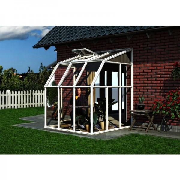 Rion sun room greenhouse kit white hg