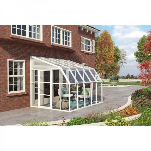 Rion 8x10 sun room 2 greenhouse kit white hg7610 - 10 by 10 room ...