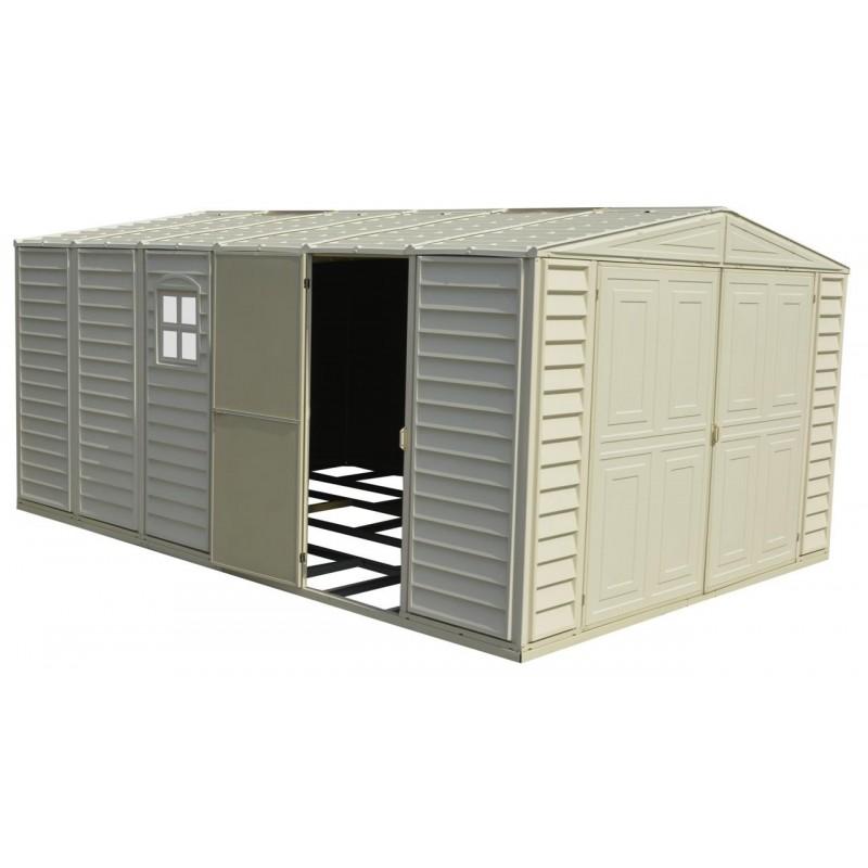 DuraMax 10x21 Vinyl Storage Garage w/ Foundation Kit (01216)