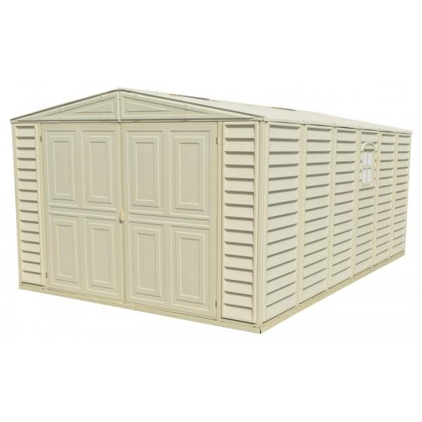 Duramax 10 5 39 x23 39 vinyl storage garage kit 01316 for Garage en kit pvc