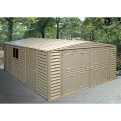 DuraMax 10x26 Vinyl Storage Garage w/ Foundation Kit (01416)