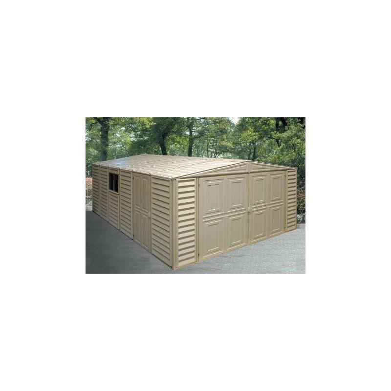 DuraMax 10x29 Vinyl Storage Garage w/ Foundation Kit (01516)
