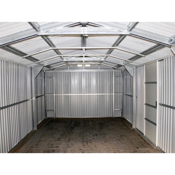 White Metal Garage : Duramax x imperial steel storage garage kit white