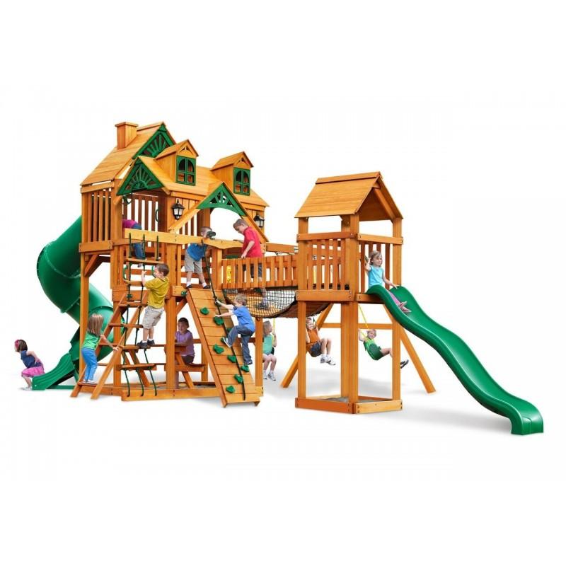 Gorilla Malibu Treasure Trove I Cedar Wood Swing Set Kit - Amber (01-0077-TS)