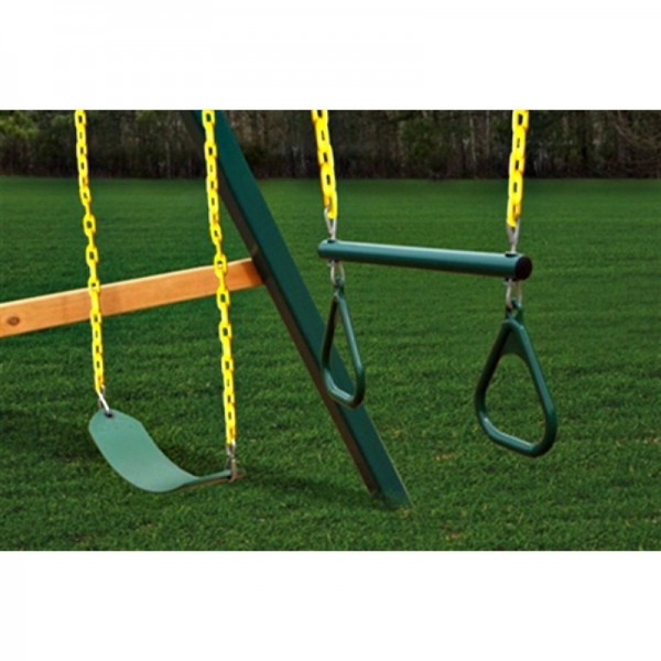Gorilla Treasure Trove Ii Cedar Wood Swing Set Kit W Timber Shield