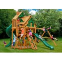 Gorilla Great Skye I Treehouse Cedar Wood Swing Set Kit w/ Amber Posts - Amber (01-0058-AP)