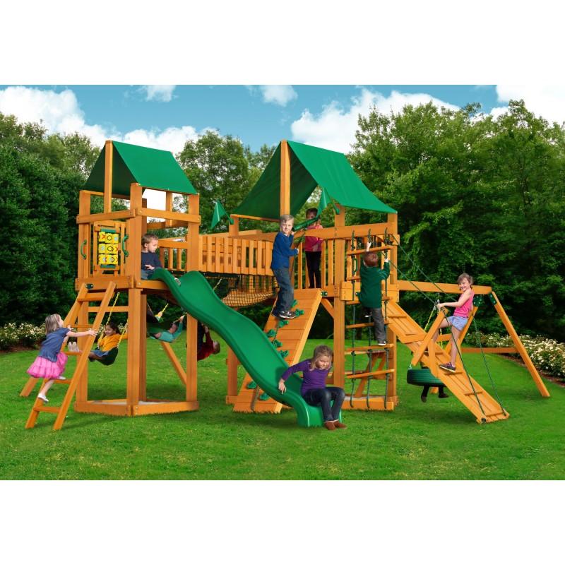 Gorilla Pioneer Peak Cedar Wood Swing Set Kit W Amber