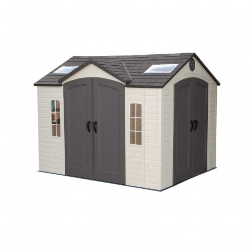 Lifetime 10' x 8' Garden Shed Kit - Double Doors (60001)