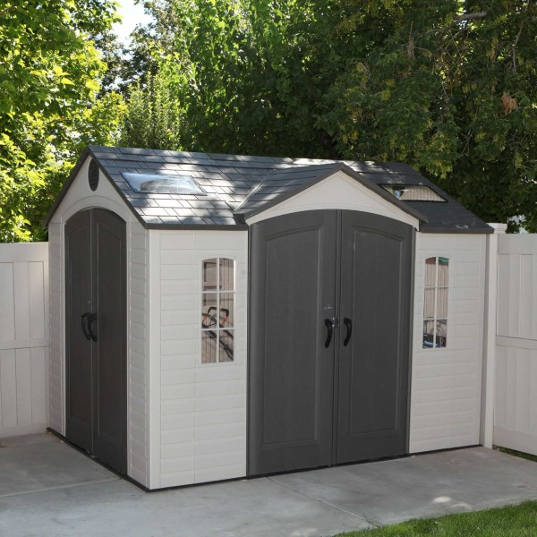 Lifetime 10x8 Ft Garden Shed Kit Double Doors 60001