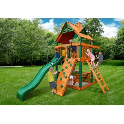 Gorilla Chateau Tower Cedar Wood Swing Set Kit w/ Timber Shield™ and Standard Wood Roof  - Amber (01-0061-TS)