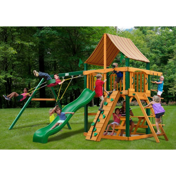 Gorilla Chateau Cedar Wood Swing Set Kit W Timber Shield