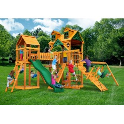 "Gorilla Malibu Pioneer Peak Cedar Wood Swing Set Kit w/ Timber Shieldâ""¢ - Amber (01-0076-AP)"