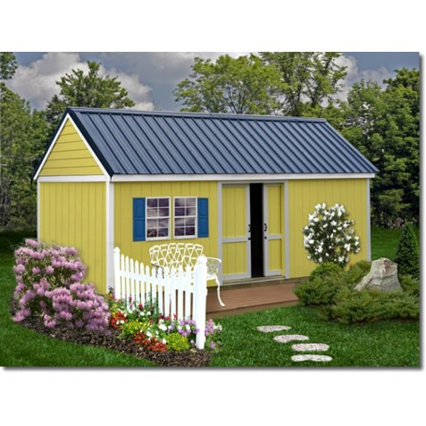 Best Barns Brookhaven 10x16 Wood Storage Shed Kit (bhaven1016)