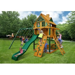 "Gorilla Mountain Ridge Cedar Wood Swing Set Kit w/ Timber Shieldâ""¢ - Amber (01-0071-TS)"