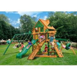 Gorilla Frontier Treehouse Wood Swing Set Kit w/ Timber Shield™ - Amber (01-0052-TS)