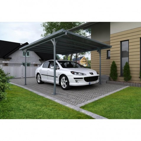 Palram 16x10 Verona 5000 Carport Kit - Gray (HG9135)