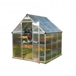 Palram 6'x6' Mythos Hobby Greenhouse Kit - Silver (HG5006)