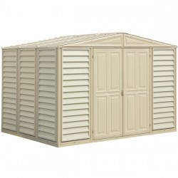 DuraMax 10.5'x8' Woodbridge Vinyl Shed w/ Foundation Kit (00284)