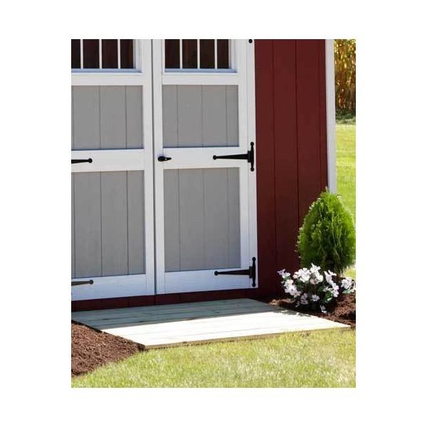 Ez fit homestead 12 39 x 20 39 wood shed kit ez homestead1220 for 10x10 access door