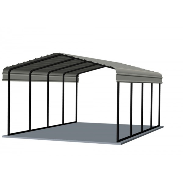 Arrow 12x20x7 Steel Carport Kit (CPH122007)