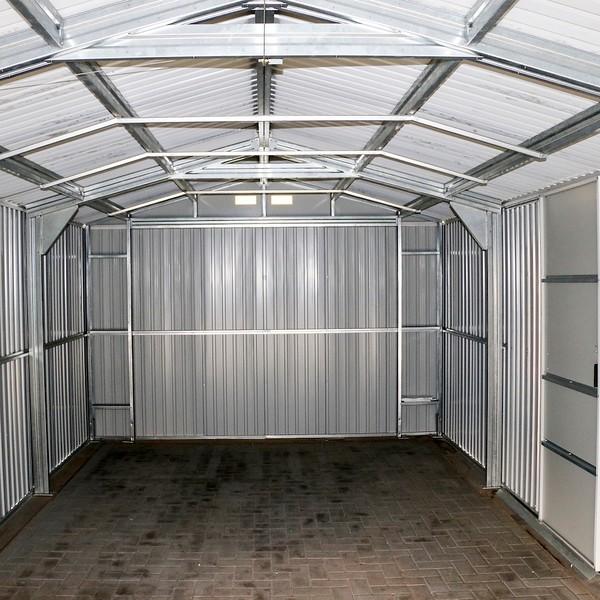 Duramax 12x20 Gray Metal Storage Garage Building Kit 50951