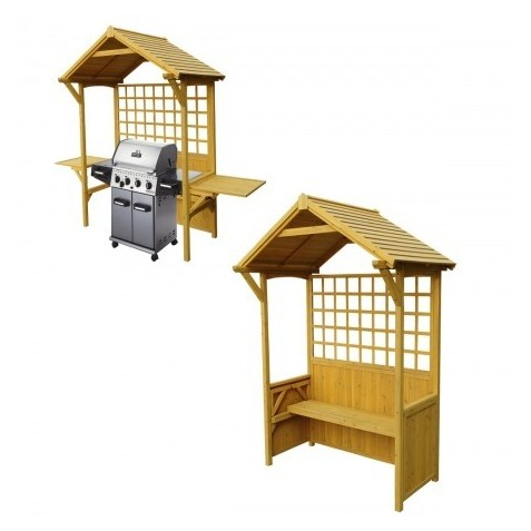Leisure Season Two-In-One Seated Party Arbor Barbeque Shelter (PA7251)