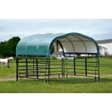 "ShelterLogic 12x12 Corral Shelter Powder Coated 1-5/8"" Steel Frame, 9 oz - Green (51512)"
