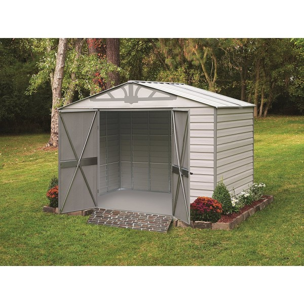arrow admiral10x7 vinyl coated steel shed kit