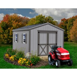 Best Barns Elm 10x16 Wood Storage Shed Kit (elm_1016)