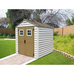 DuraMax 7x7 StoreMax Vinyl Shed w/ Foundation Framing Kit (30315)