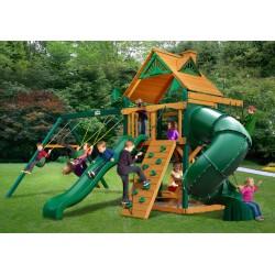 Gorilla Mountaineer Cedar Wood Swing Set Kit  w/ Timber Shield™ and Standard Wood Roof - Amber (01-0005-TS)