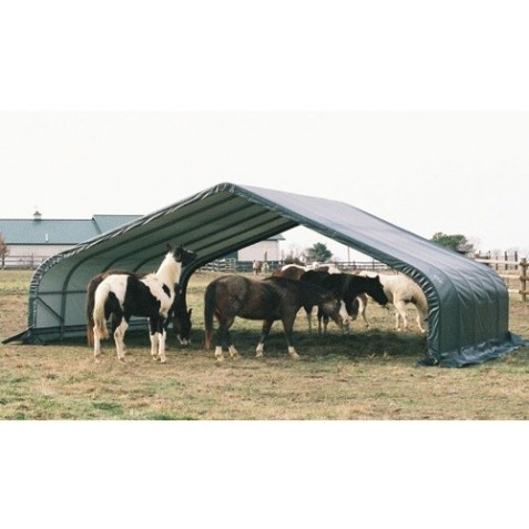 Shelter Logic 22x24x12 Peak Style Shelter Kit - Green (58542)