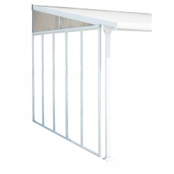 Palram 10' Feria Patio Cover Sidewall Kit Addition - White (HG9005)