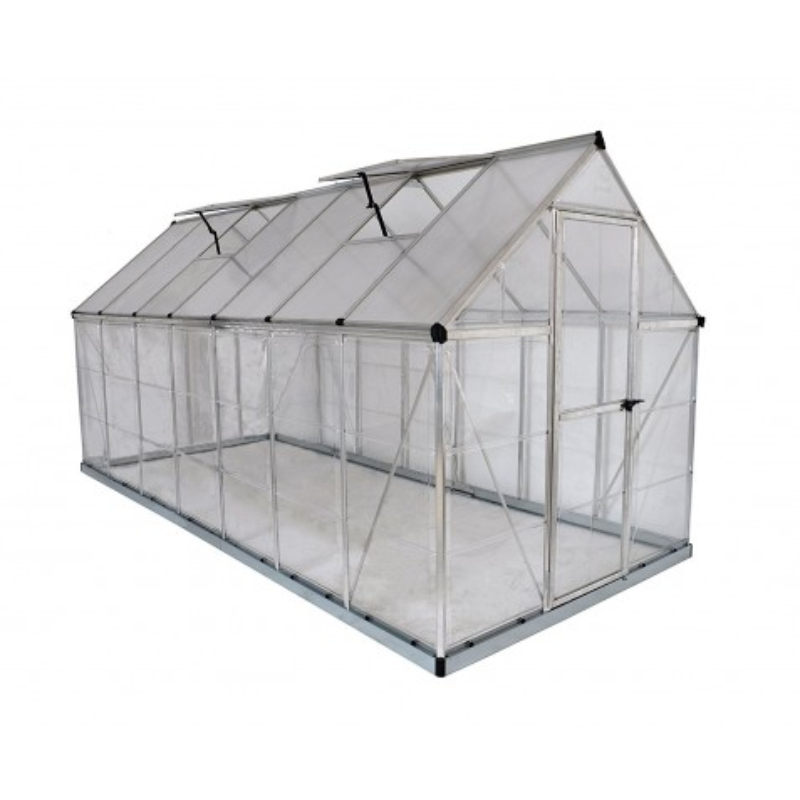 Palram 6x14 Hybrid Greenhouse Kit - Silver (HG5514)
