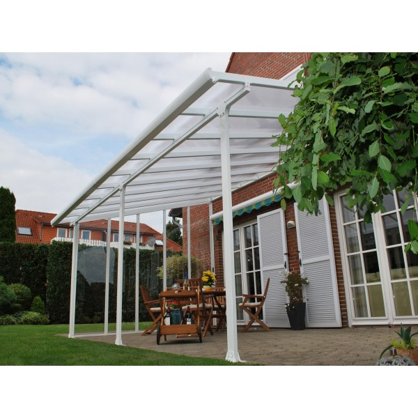 Palram 10x14 Feria Patio Cover Kit White Hg9314