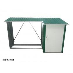 Duramax 8x3 Woodstore Metal Combo Shed Kit - Green (53661)
