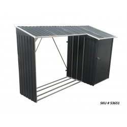 Duramax 8x3 Woodstore Metal Combo Shed Kit - Gray (53651)