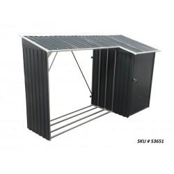Duramax 8x3 Woodstore Metal Combo Shed Kit - Gray (53651)