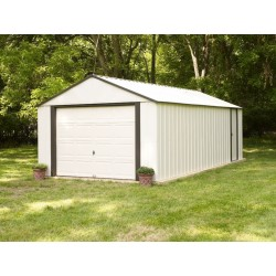 Arrow 14x21 Vinyl Murryhill Steel Garage Kit (VT1421)