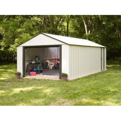 Arrow 12x10 Vinyl Murryhill Steel Garage Kit (VT1210)