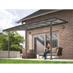 Palram 10x14 Feria Patio Cover Kit - Gray (HG9414)