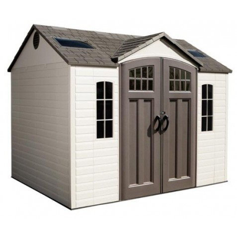 Lifetime 10x8 Plastic Garden Storage Shed W Floor 60178