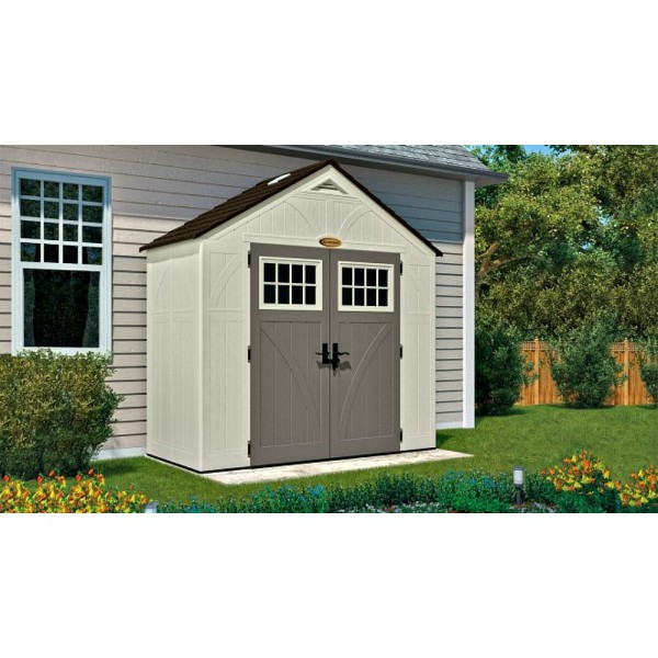 Suncast 2 pack 8x4 tremont storage shed w floor bms8400 for Two floor shed